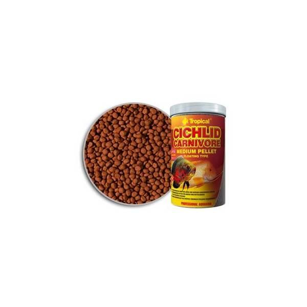 Tropical Cichlid Camivore Medium Pellet 500ml/1800g