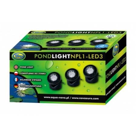 Aqua Nova Oświetlenie LED do stawu 3x1,6w