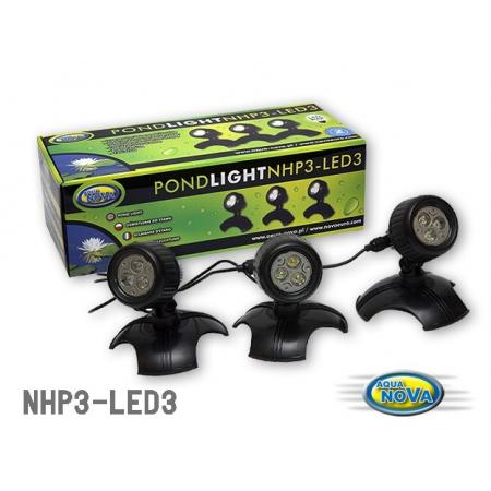Aqua Nova Oświetlenie LED do stawu 3x 3,6W