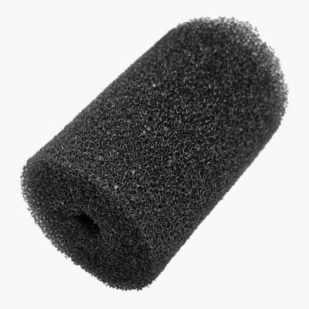 Gąbka okrągła 12/7cm - Czarna grube pory
