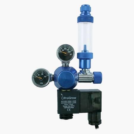 ProGrow Reduktor CO2 z elektrozaworem oraz butlą CO2 2L